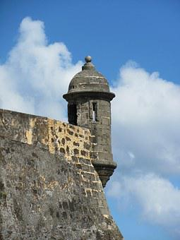 Puerto Rico, San Juan, Fort, Wall, Stone, Architecture