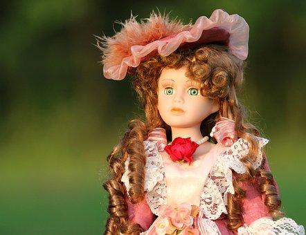 Baby Doll, Retro, Lady, Cap, Attire, Costume, Dress