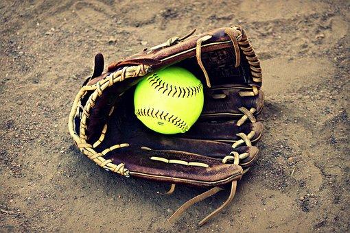 Softball, Outside, Ball, Leather, Seam, Stitching