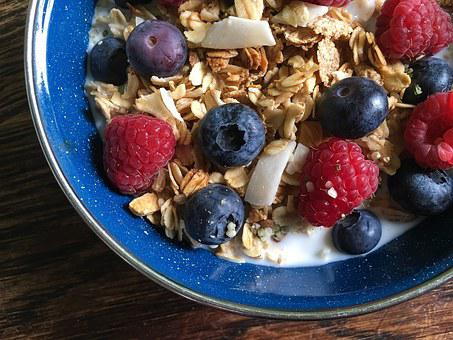 Cereal, Granola, Milk, Local, Berry, Berries, Raspberry