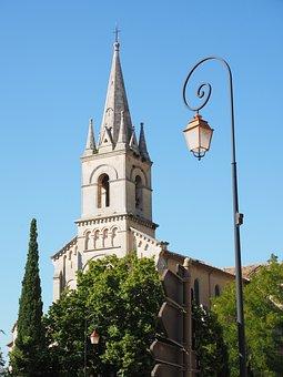 Church, Lantern, Bonnieux, Village, Community