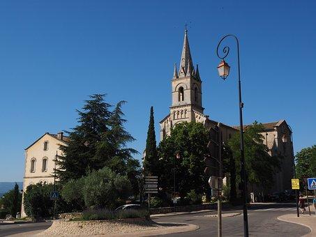 Bonnieux, Village, Community, Church, French Community