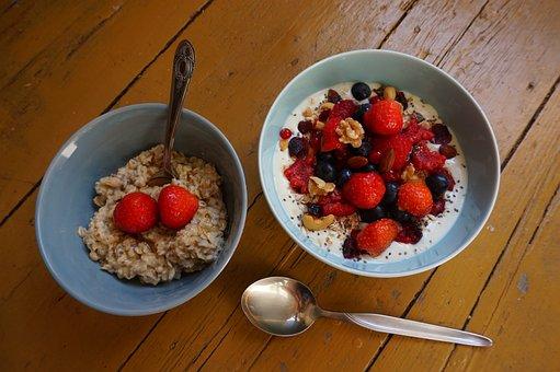 Breakfast, Bowl, Soy, Yoghurt, Fruit, Healthy, Food