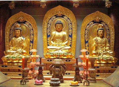 China, Buddha, Bodhisattvas, Buddhism, Faith, Religion