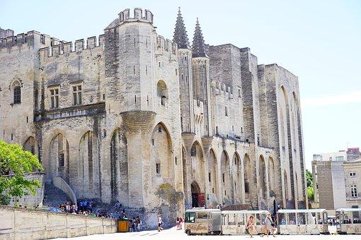 Palais Des Papes, Tourism, Building, Imposing