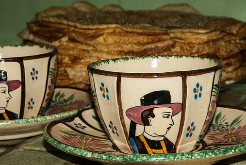 Candlemas, Brittany, Pancakes, Earthenware, Breton