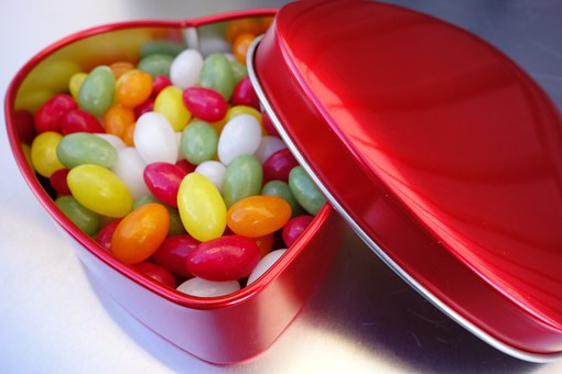 Heart Box, Tin Can, Metal Box, Cans Shop, Candy