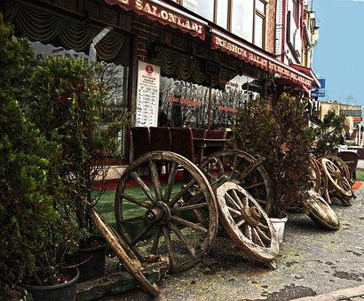 Wheel, Turkey, Istanbul, Restaurant, Old, Car, Forest