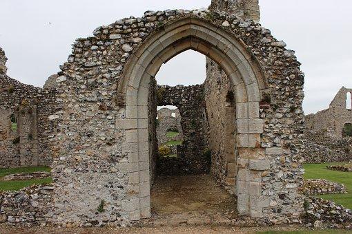 Doorway, Portal, Archway, Castle Acre Priory, Norfolk