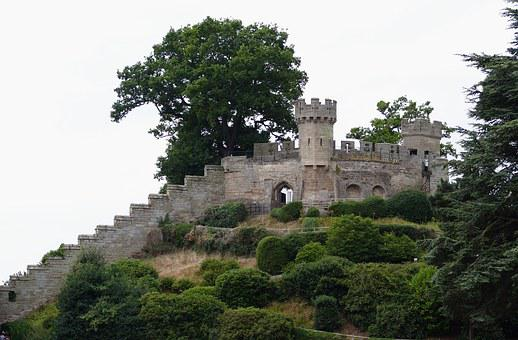 Castle, Warwick, England, Medieval, Architecture