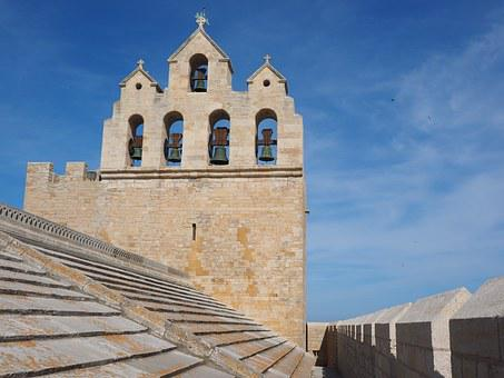 Notre-dame-de-la-mer, Church, Church Roof, Bell Tower
