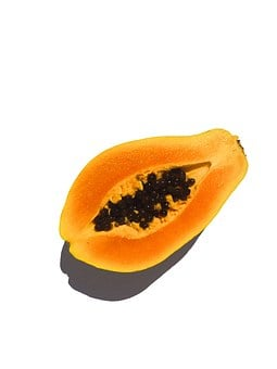 Fruit, Papaya, Cut In Half