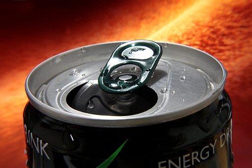 Tin, Energy Drink, Drink, Energetic