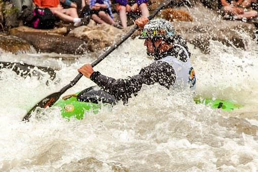 Kayak, Whitewater, Action, Helmet, Extreme, Activity