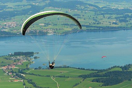 Paraglider, Paragliding, Flying, Freedom, Tegelberg