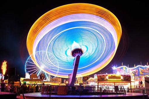 Fair, Ride, Folk Festival, Prater, Year Market, Night