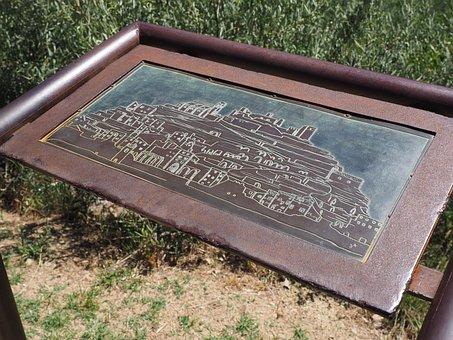 Plaque, Shield, Relief, City, Village, France, Provence