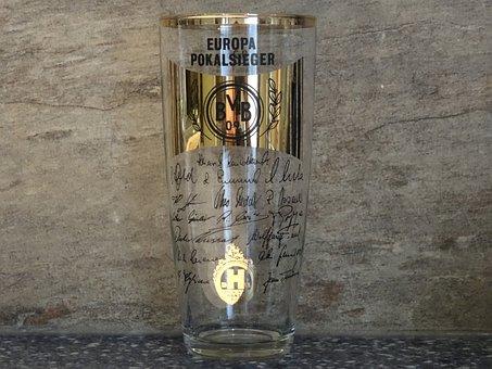 Beer Glass, Glass, Bvb, Dortmund, Borussia Dortmund
