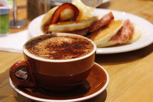 Coffee, Hungry, Happy, Meals, Breakfast, Yummy