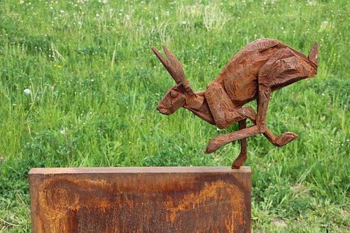 Art, Hare, State Garden Show, Bayreuth, Object Art
