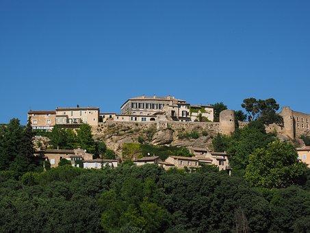 Ménerbes, Village, Community, Houses, Hill, Built Up