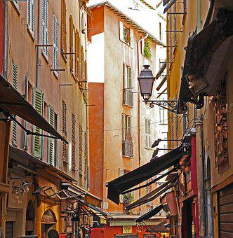 Impressions, Historic Center, Alley, Nice, Shops
