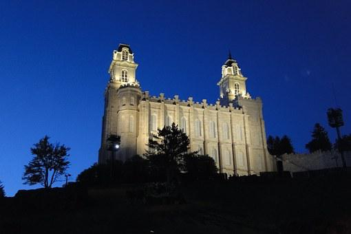 Temple, Manti, Mormon, Utah, Holy, Mormonism