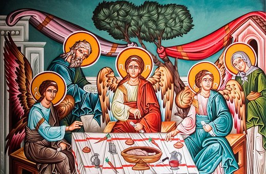 Abraham's Philoxenia, Painting, Iconography, Orthodox