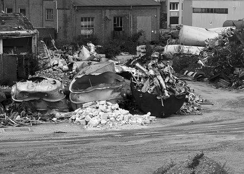 Demolition, Decay, Old, Industrial Building, Factory