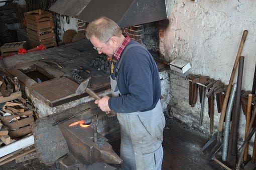 Mecklenburg, Blacksmith, Craft, Iron, Metal, Embers