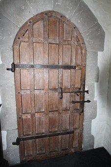 Leeds Castel, Castle, Left, Keller, Door, Oak