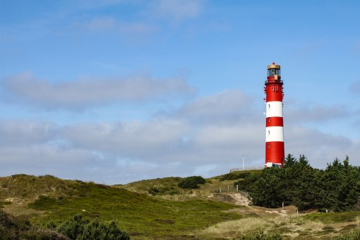 Lighthouse, Dune, Amrum, North Sea, Nordfriesland