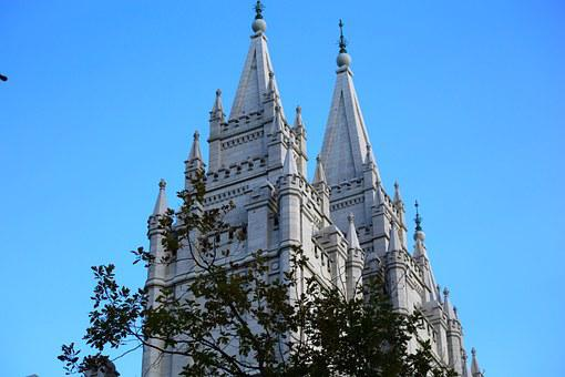 Mormon, Temple, Tower, Mormonism, Church, Religion