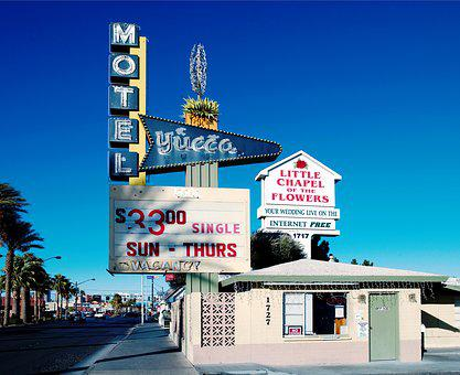 Motel, Usa, America, House, United States