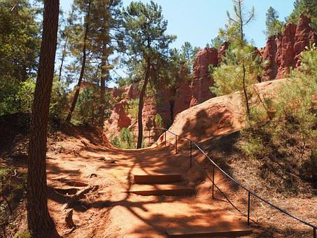 Nature Trail, Ocher Trail, Away, Sand, Roussillon