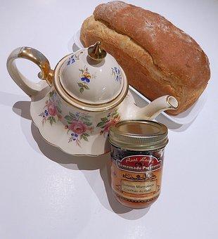 Multi Grain Bread, Teapot, Marmalade, Oats, Corn