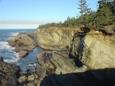 Cliff, Ocean, Landscape, Cliffs, Beautiful, Shoreline