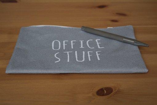 Sticker, Home Office, Pen, Silver, Noble, Office
