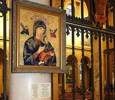 Picture, Our Lady, Interior Of The Church, Church