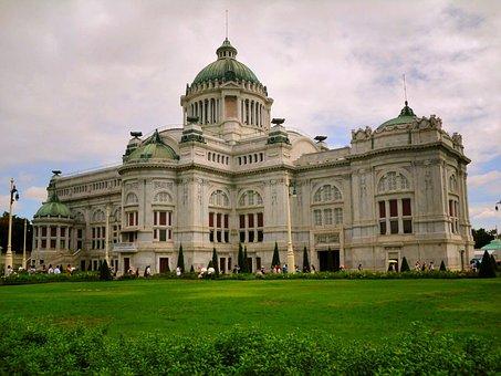 Green, Old, Vintage, Castle, Palace Of King Rama V