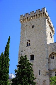 Corner Tower, Defensive Tower, Palais Des Papes