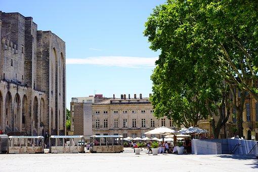 Palais Des Papes, Avignon, Forecourt, Space, Building