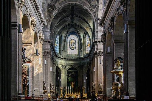 Church, Nave, Roman Catholic, Saint-sulpice, Paris