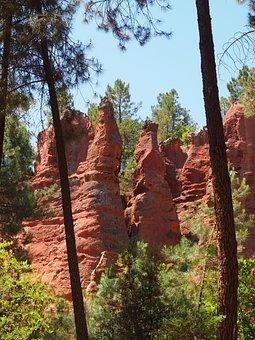 Ocher Rocks, Red, Pink, Rock Points, Rocky Towers
