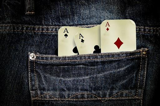 Jeans, Playing Cards, Play, Gambling, Cross, Ace, Red