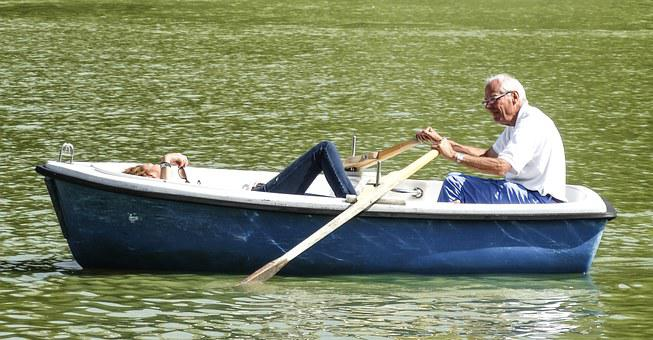 Barca, Couple, Soledad, Wholesale, Pond, Rowing, Oars