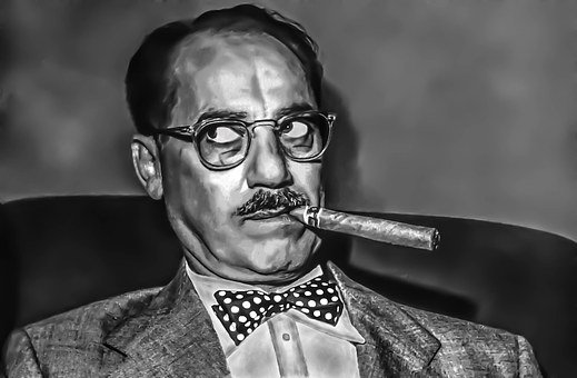Groucho Marx - Male, Portrait, Radio, Stage
