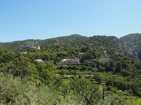 Village, France, Provence, Oppede-le-vieux, Oppede
