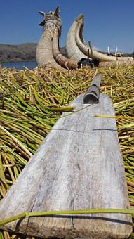 Oars, Reeds, Boat, Uro, Lake Titicaca, Paddle, Puno