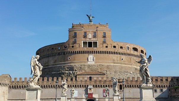 Sant'angelo, Rome, Castel, Fortress, Mausoleum, Castle